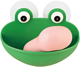 ekqw015l ラブリー カエル 壁 吸引 スポンジ 石鹸 ドレイン ディッシュ ラック ホルダー バスルーム オーガナイザー グリーン LHMP6Z2LH825TKG0FLWJ14750P2