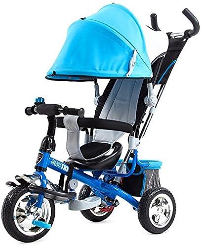 BZEI-BIKE Kinder Dreiradwagen Kinderwagen Kinderfürr r 3 R r, Blau Kinderspielzeug