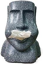 Charmgle Novelty Paper Towel Box Square Moai Shape Resurrection Island Stone Figure Household Paper Towel Drawing Stone Pe...
