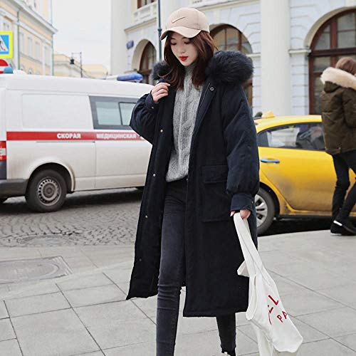 Lange Parka's dames winterjas oversized suède met capuchon 2019 warm winter vrouwen kleding outwear