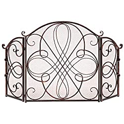 Best Choice Products Metal Decorative Fireplace Screen Cover