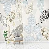 Papier Peint Mural Intissé Feuillage Vintage Abstrait Peinture Murale Moderne Pour La Décoration De Chambre Bureau Couloir 250CMx175CM