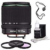 Pentax SMC DA 18-135mm F/3.5-5.6 ED AL (IF) DC WR Lens + 3 Piece Filter Kit + Lens Cleaning Kit + Lens Cap Keeper Bundle