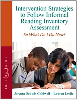 Intervention Strategies to Follow Informal Reading Inventory Assessment: So What Do I Do Now? (3rd Edition) (Myeducationlab)