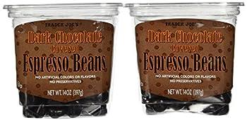 Trader Joe s Dark Chocolate Covered Espresso Beans 14oz  2 pack