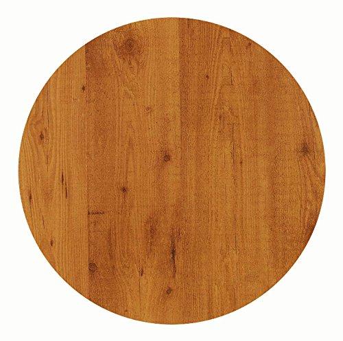 Werzalit Tischplatte, Dekor Pinie 90 cm rund wetterfest Ersatztischplatte Bistrotisch Stehtisch Tisch Gastronomie