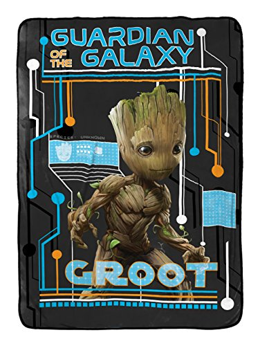 Marvel Guardians of The Galaxy 2 Wanted Plush Twin Blanket