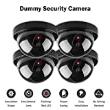 Simxen 4 Pcs Dummy CCTV Dome Camera with Blinking Red LED Light. for Home Or Office Security Camera