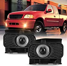 Fog Light Set for 99-03 Ford F-150 F150, 04 Ford F-150 F150 w / Bulb, 99-02 OEM Ford Expedition, NIXON OFFROAD Fog Lamp Replacement Clear Lens ( Not fit Lightning & Harley Davidson Edition Models )