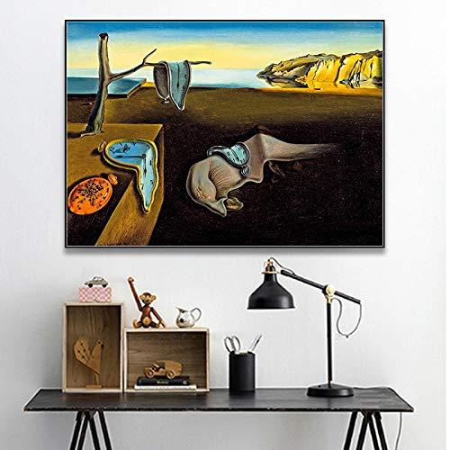 Salvador Dali la persistencia de los relojes de memoria...