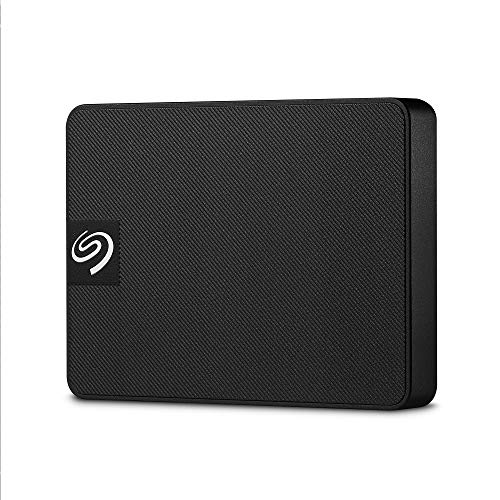 Seagate Expansion SSD, Portable externe SSD, 1 TB, 2.5 Zoll, USB 3.0, PC & Mac, schwarz, inkl. 3 Jahre Rescue Service,Modellnr.: STJD1000400