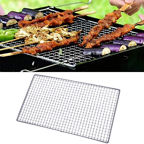 Tmibay BBQ Grill Wire Netting Metal Squares Holes Grilling Barbecue Wire Mesh Barbecue Tools (40x25CM)