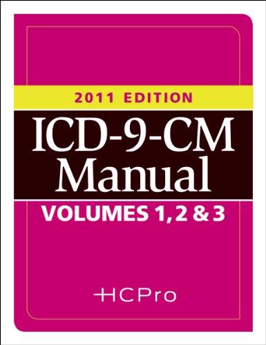 ICD-9-CM Manual, 2011 Edition (3 Volumes)