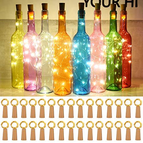 Taiker Wine Bottle Lights with Cork, 30 Pack 20 LED Battery...