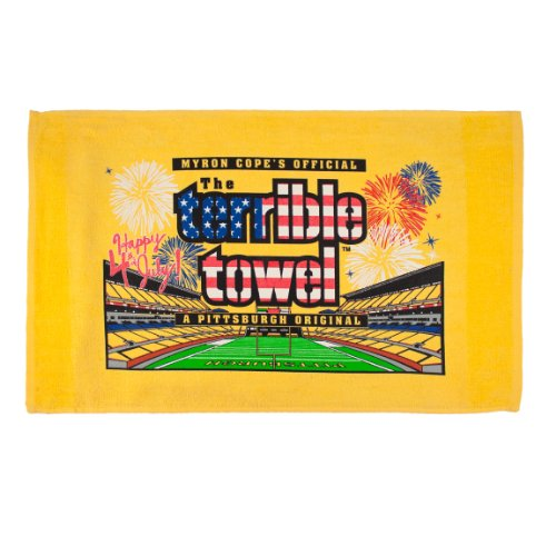 NFL Pittsburgh Steelers 4th of July Terrible Towel, Gold