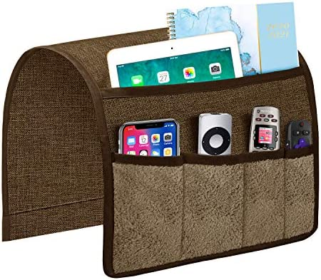 Joywell Sofa Armrest Organizer with 5 Velvet Pockets Remote Holder on Couch Chair Arm for TV product image