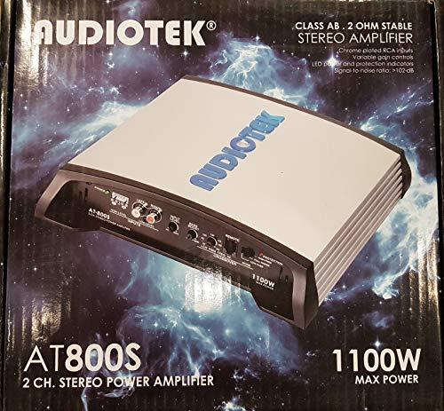 Audiotek at800s 2Canales Clase AB 2ohmios Estable 1100W Coche Amplificador de Potencia estéreo…