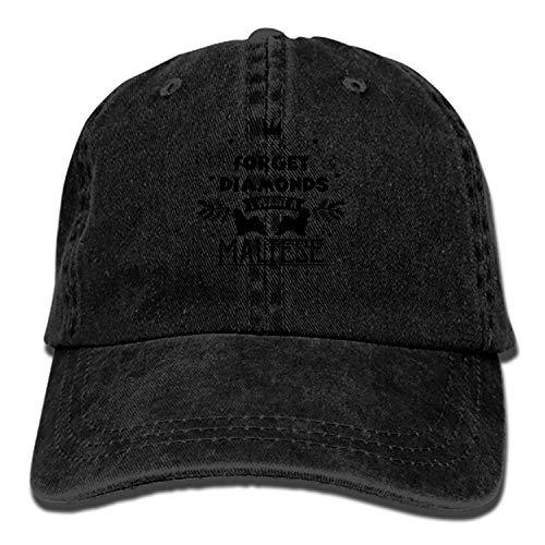 Denim Fabric Adjustable I Want A Maltese Vintage Baseball cap