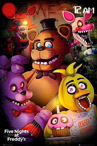 Póster Five Night's at Freddy's - Let's Eat!!! [Personajes] (61cm x 91,5cm)