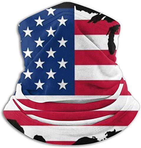Lawenp Gesichtsbedeckung Bandana, Karte American Fla Neck Gaiter, waschbare Magic Scarf Sturmhaube für Männer und Frauen