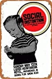 OSONA Social Distortion Lupos Herrtbreak Retro Nostalgic Art Traditional Rust Color Tin Logo Advertising Striking Wall Decoration Gift