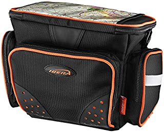 Ibera Bike Handlebar Bag for Camera Equipment, Clip-on Quick Release Bicycle Bag with Rain Cover and Map Sleeve