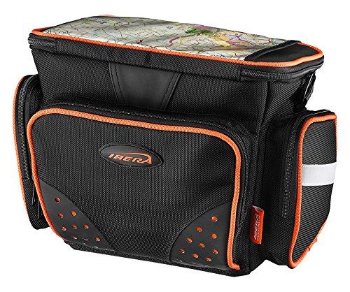 Ibera IB-HB4 Bolsa para Manillar de Bicicleta, Unisex Adulto, Negro, Small