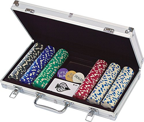 Spinmaster 6033157, Set da Poker in Valigetta di Alluminio (300 Pezzi)