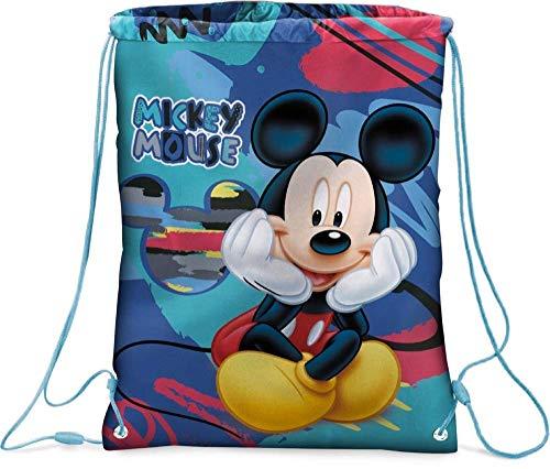 Sacca Topolino Mickey Mouse Disney Borsa Cm. 43X32,5 - Sport Scuola Viaggio e Tempo Libero 57803