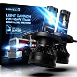 NINEO 110W H4 LED Bulbs Halogen Replacement | Magnetic Levitation Dual Ball Bearing Fan Design | 9003 Conversion Kit 6500K Cool White