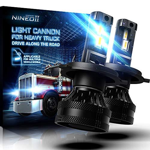 NINEO 55W H4 LED Headlight Bulbs w/20000LM   Magnetic Levitation Dual Ball Bearing Fan Design   9003 Conversion Kit 6500K Cool White