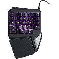 KKmoon Delux T9 Pro Gaming Teclados Profesionales por una Mano USB Teclados 29 Key LED Retroiluminado para LOL/PUBG