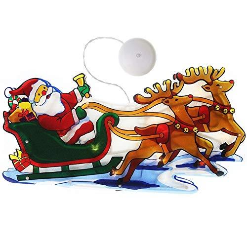 Lampe de Noël avec logo de décoration de fenêtre de Noël avec un arrangement de ventouse. (6) mumushenghuo (Taille : 5 : bonhomme de neige)
