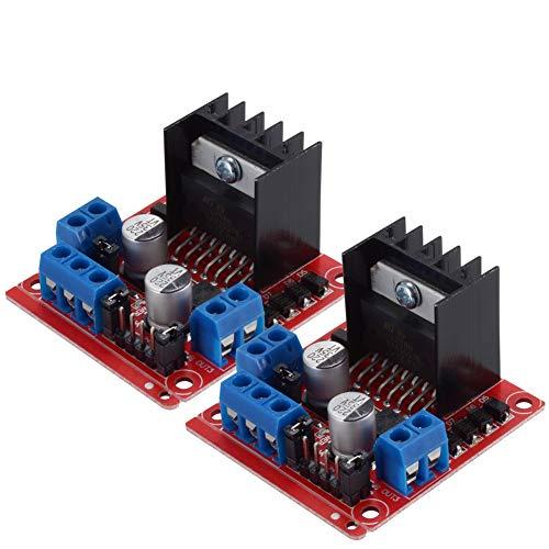 PChero 2Packs L298N Motor Drive Controller Board Module, Dual H Bridge DC Stepper For Arduino Smart Car Robot