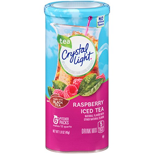 Crystal Light Raspberry Iced Tea Drink Mix (72 Pitcher Packets, 12 Packs Of 6)