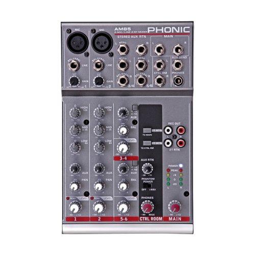 Phonic AM 85 DJ-Mixer - Audio-Mixer (20 - 20000 Hz)