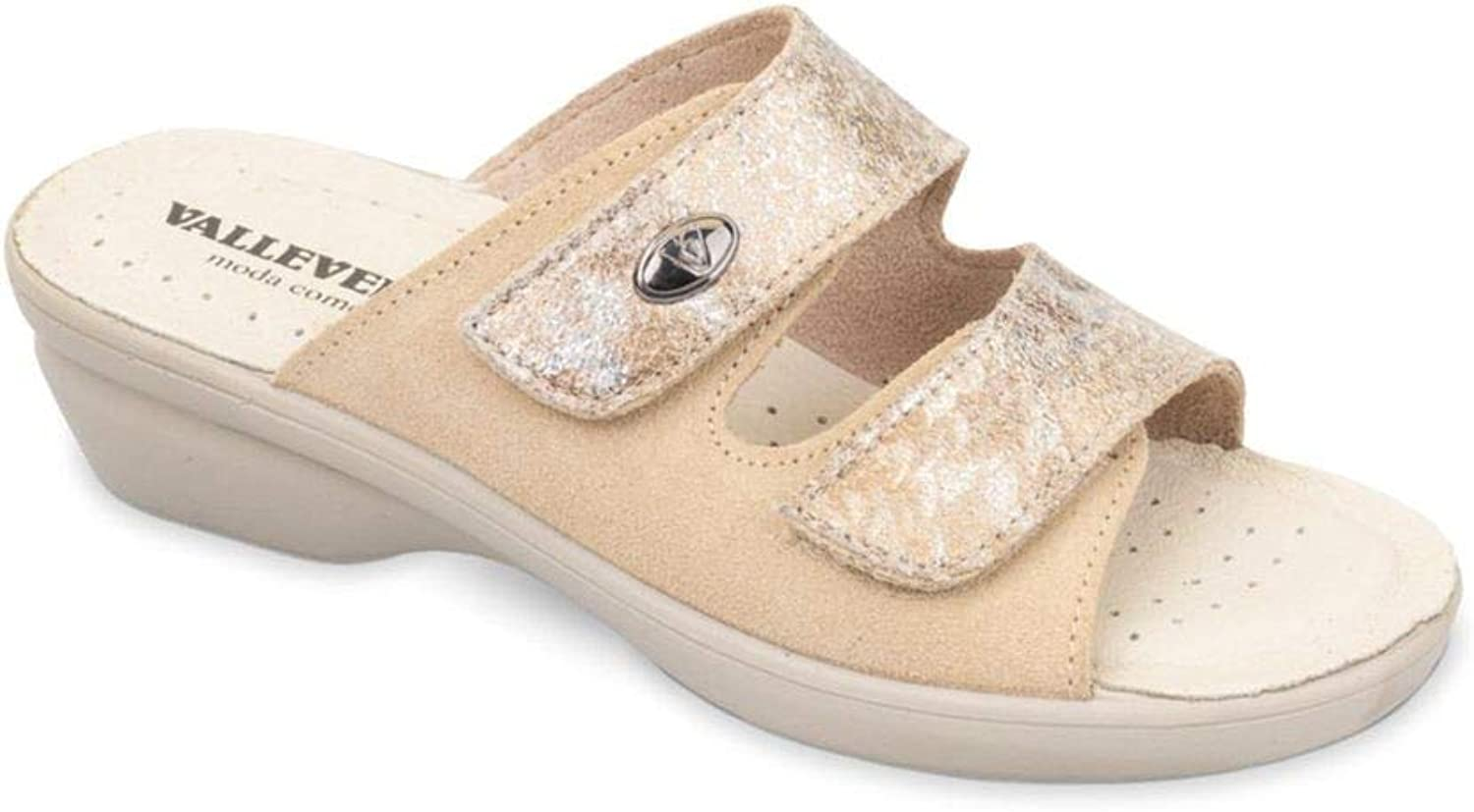 Vallegreen 25318 Sandals Slippers Woman Leather Tear Made in
