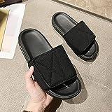 MLLM - Pantofole con soletta in schiuma per diabete, misura regolabile, colore nero a_35