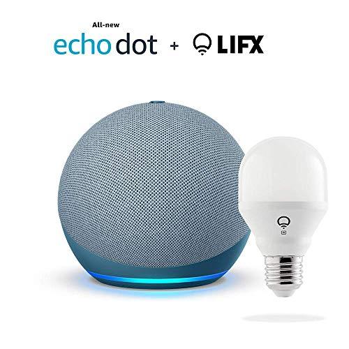 All-new-Echo-Dot-4th-Gen-Twilight-Blue-bundle-with-LIFX-Smart-Bulb-Wi-Fi