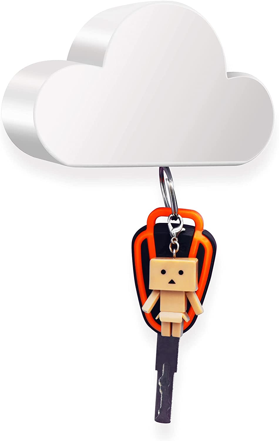 White Albuquerque Mall Cloud Magnetic Key Holder Super sale for Or Creative Wall and Unique