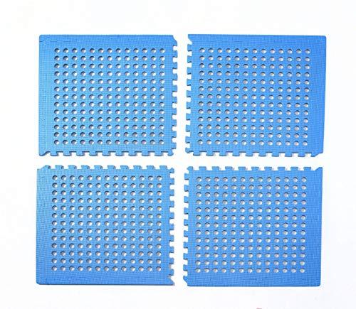 bonsport Pool Unterlegmatte Poolmatte 4 Stück - Bodenschutz Matte für den Pool/Planschbecken - Bodenfolie Bodenmatte Poolunterlage Bodenschutz blau