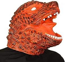 PARTY STORY Godzilla Rubber Animal Head Latex Mask Halloween Novelty Costume Masks (Red)