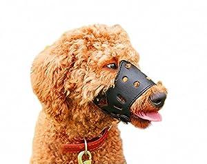 colybeauty. Cor anti-biting réglable Muselière pour chien en cuir