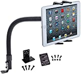 Tablet Car Mount, Robust Tablet Car Holder Gooseneck Flex Truck Mount for Apple iPad Pro 12.9 11 10.5 9.7 iPad Air iPad Mini Tablet (All 7-13') w/Anti-Vibration Swivel Cradle (with or Without case)