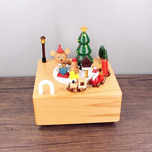 PLBB3K Caja de música giratoria para Regalos para Novias Regalos creativos Artesanía de Navidad Caja de música