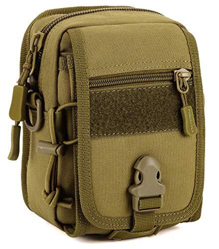 DCCN Mini-Taille Sac en Bandoulière Tactique Molle, Ceinture De Randonnée/Camping/Trekking, Sacoche pour Téléphone Portable