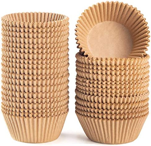 Caperci Standard Natural Cupcake Liners 500 Count No Smell Food Grade Grease Proof Baking Cups product image