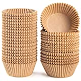Caperci Standard Natural Cupcake Liners 500 Count, No Smell, Food Grade & Grease-Proof Baking Cups Paper