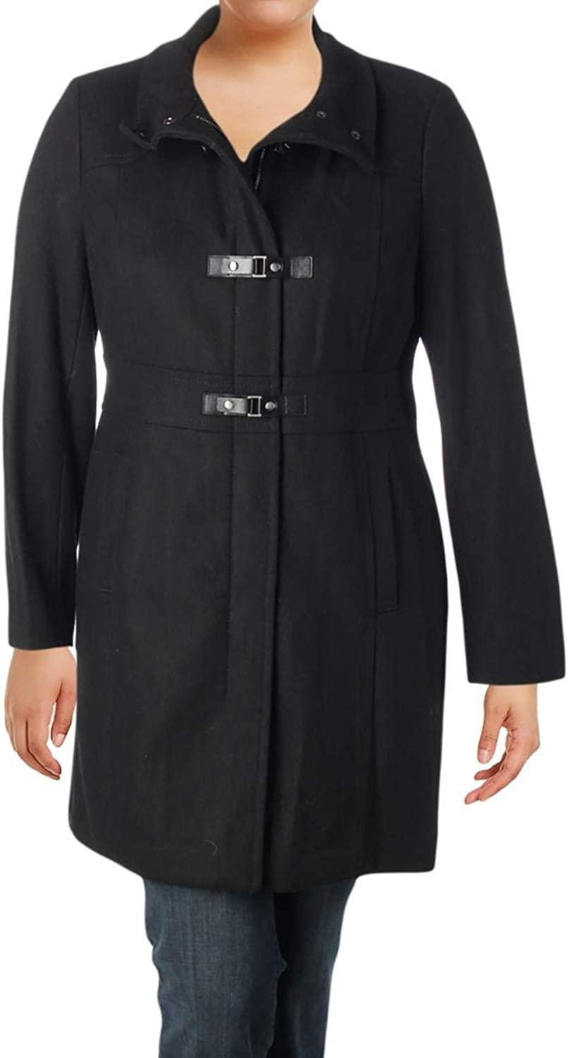 Kenneth Cole New York Womens Winter Wool Blend Toggle Coat