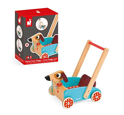 Janod J05995 – Lauflernwagen aus Holz, Crazy Doggy - 4